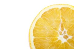 Rebanada de naranja en esquina Imagen de archivo