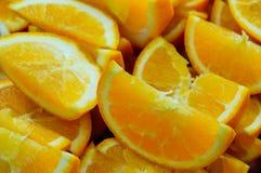Rebanada de naranjas fotos de archivo