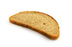 Rebanada de pan aislada en blanco Foto de archivo libre de regalías
