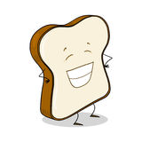 Rebanada de pan blanco Foto de archivo