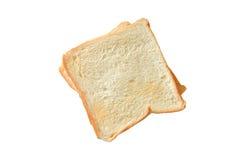 Rebanada de pan con blanco aislado Fotografía de archivo libre de regalías
