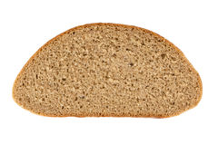 Rebanada de pan de centeno aislada en blanco Imágenes de archivo libres de regalías