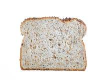 Rebanada de pan fresca aislada en blanco Foto de archivo