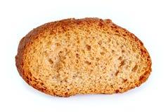 Rebanada de pan seca aislada Imagenes de archivo