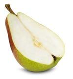 Rebanada de pera aislada en el fondo blanco Foto de archivo