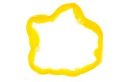 Rebanada de pimienta amarilla Imagen de archivo