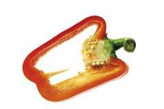 Rebanada de pimienta roja, primer Imagen de archivo libre de regalías
