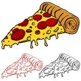 Rebanada de pizza Foto de archivo