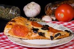 Rebanada de pizza Imagenes de archivo