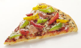 Rebanada de pizza Imagen de archivo libre de regalías