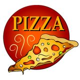 Rebanada de pizza caliente Clipart Imagen de archivo