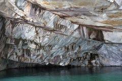 Rebanada de rocas de mármol Mina de mármol Fotografía de archivo libre de regalías