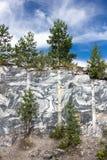 Rebanada de rocas de mármol Mina de mármol Fotografía de archivo