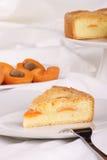 Rebanada de tarta del albaricoque Imagen de archivo libre de regalías