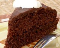 Rebanada de torta de chocolate Fotos de archivo libres de regalías