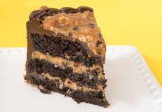 Rebanada de torta del caramelo Fotografía de archivo libre de regalías