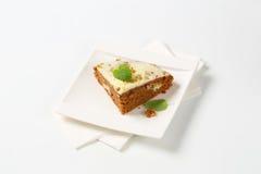 Rebanada de torta del pan de jengibre Imagenes de archivo