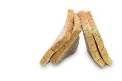 Rebanada de un pan del trigo integral aislado Fotografía de archivo