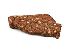 Rebanada de un pan negro Imagen de archivo