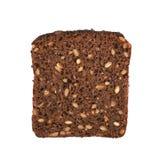 Rebanada de un pan negro aislado Foto de archivo libre de regalías