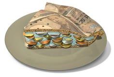 Rebanada de Yen Money Pie Fotografía de archivo