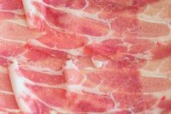 Rebanada del cerdo en la sopa caliente Imagen de archivo libre de regalías
