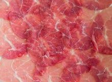 Rebanada del cerdo en la sopa caliente Fotografía de archivo