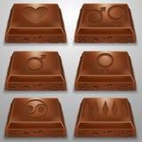Rebanada del chocolate Imagen de archivo libre de regalías