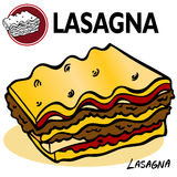 Rebanada del Lasagna Fotografía de archivo