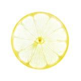 Rebanada del limón en blanco Imagen de archivo