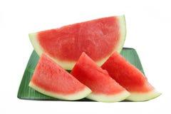 Rebanada del melón de agua Fotografía de archivo
