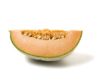 Rebanada del melón del cantalupo imágenes de archivo libres de regalías