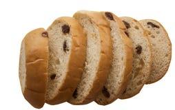 Rebanada del pan de pasa Fotos de archivo libres de regalías