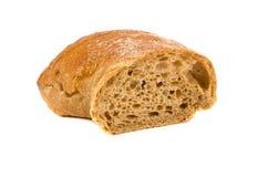 Rebanada del pan fresco aislada en blanco Imagenes de archivo