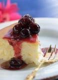 Rebanada del pastel de queso Imagen de archivo libre de regalías
