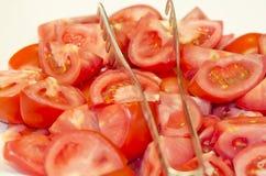 Rebanada del tomate Foto de archivo