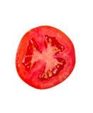 Rebanada del tomate aislada en blanco foto de archivo