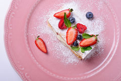 Rebanada deliciosa de torta, italiano Napoleon Milfey Imagen de archivo libre de regalías