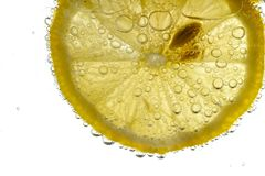 Rebanada fresca del limón Foto de archivo