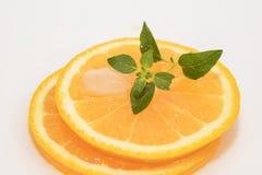 Rebanada jugosa de las naranjas foto de archivo libre de regalías