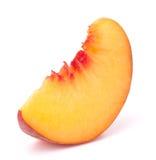 Rebanada madura de la fruta del melocotón Foto de archivo libre de regalías