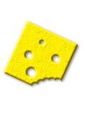 Rebanada mordida de queso Imagen de archivo libre de regalías