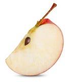 Rebanada roja de la manzana Imagen de archivo
