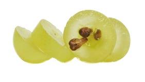 Rebanada translúcida de uva verde foto de archivo libre de regalías