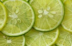 Rebanada verde del limón Imagenes de archivo