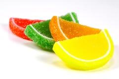 Rebanadas 2 del caramelo de la jalea Foto de archivo libre de regalías