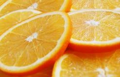 Rebanadas anaranjadas imagenes de archivo