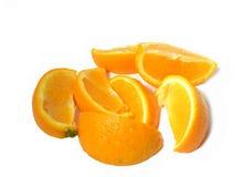 Rebanadas anaranjadas Imagen de archivo libre de regalías