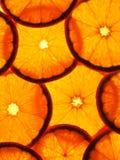 Rebanadas anaranjadas Imágenes de archivo libres de regalías