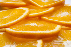 Rebanadas anaranjadas Fotos de archivo libres de regalías
